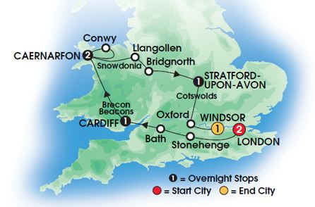 Heart of England and Wales Tour